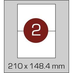 Этикетка самоклеящаяся А4 (2 шт на листе) 210 х 148,4 мм с прямыми углами