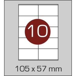Этикетка самоклеящаяся А4 (10 шт на листе)105 х 57 мм с прямыми углами