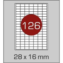 Этикетка самоклеящаяся А4 (126 шт на листе) 28х16 мм с прямыми углами