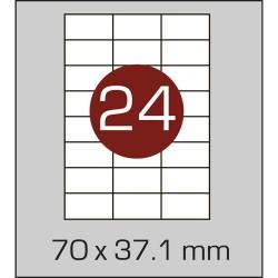 Этикетка самоклеящаяся А4 (24 шт на листе) 70 х 37,1мм с прямыми углами