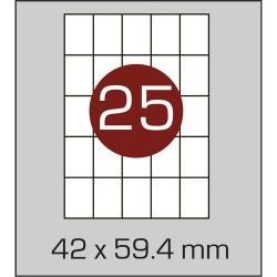 Этикетка самоклеящаяся А4 (25 шт на листе) 42х59,4мм с прямыми углами