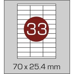 Этикетка самоклеящаяся А4 (33 шт на листе) 52,5х42,4мм с прямыми углами