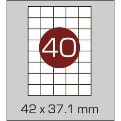 Этикетка самоклеящаяся А4 (40 шт на листе) 42х37,1мм с прямыми углами