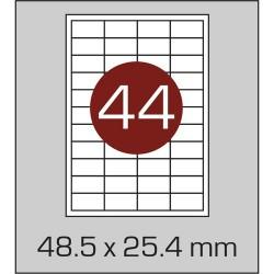 Этикетка самоклеящаяся А4 (44 шт на листе) 48,5х25,4 мм с прямыми углами