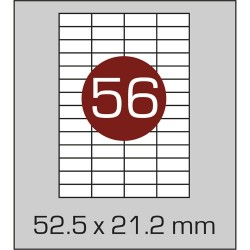 Этикетка самоклеящаяся А4 (56 шт на листе) 52,5х21,2мм с прямыми углами