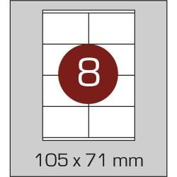 Этикетка самоклеящаяся А4 (8 шт на листе)105 х 71 мм с прямыми углами