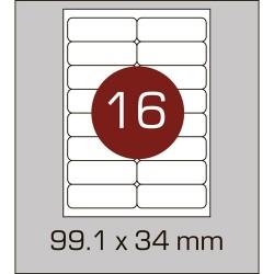 Этикетка самоклеящаяся А4 (16 шт на листе) 99,1х34 мм с скругленными углами
