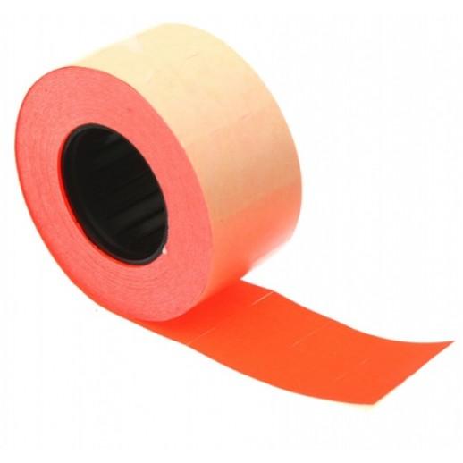 Этикет лента 26х16мм, флюорисцентная красная 1000 шт, упаковка 52 рулона