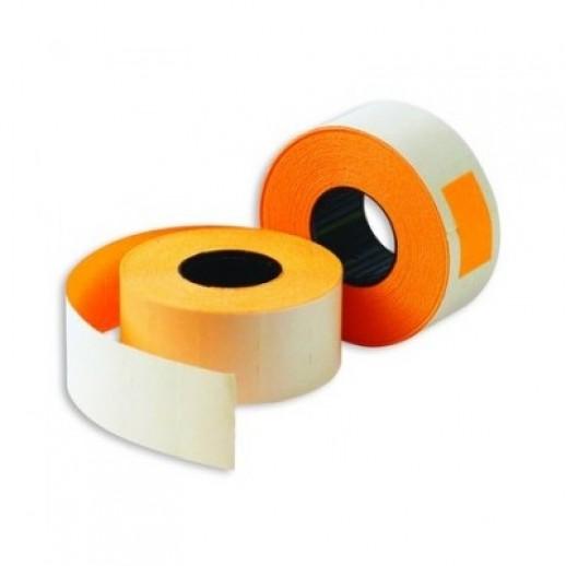 Этикет лента 26х16мм, флюорисцентная оранжевая 1000 шт, упаковка 52 рулона