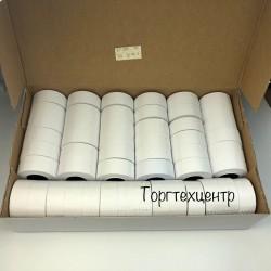 Этикет лента Open Data 21х12 мм 1000 шт прямоугольная белая, упаковка 50 рулонов