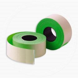 Этикет лента 26х16мм, флюорисцентная зеленая 1000 шт, упаковка 52 рулона