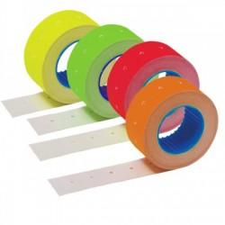 Этикет лента 21,5х12 мм флюорисцентная желтая1500 шт, упаковка 64 рулона