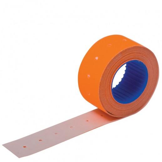 Этикет лента 21,5х12 мм флюорисцентная оранжевая 1500 шт, упаковка 64 рулона