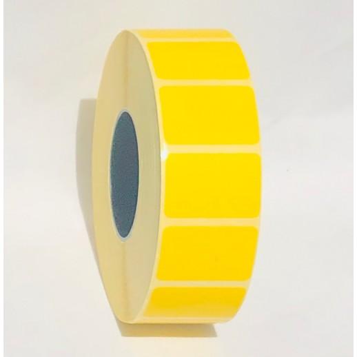 Этикетка самоклеящаяся 30х20 мм полуглянцевая желтая 2000шт
