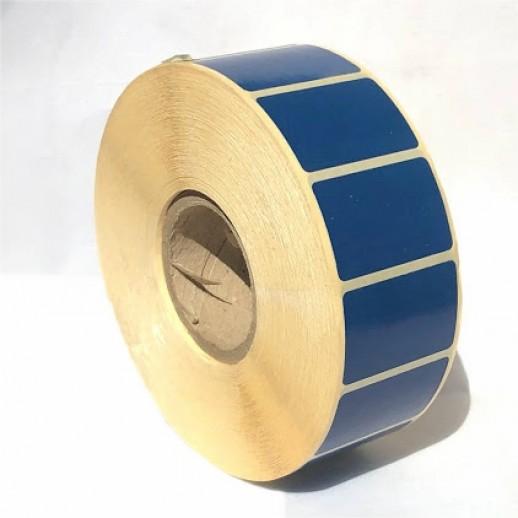 Этикетка самоклеящаяся 38х25мм полуглянцевая синяя  2500 шт