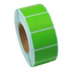 Этикетка самоклеящаяся 40х25 мм термо ЕКО зеленая 2000шт