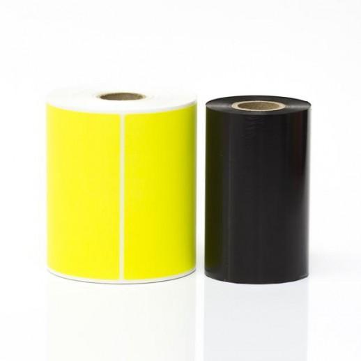 Этикетка самоклеящаяся 100х40 мм  бумажная  желтая 1000шт