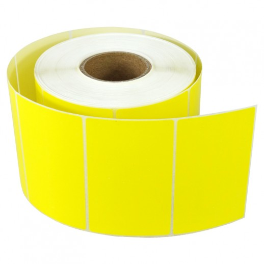 Этикетка самоклеящаяся 58х40 мм Термо ЭКО желтая 1000шт