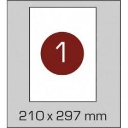 Этикетка самоклеящаяся А4 (1 шт на листе) 210х297 мм с прямыми углами