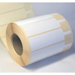Этикетка фигурная самоклеящаяся бумажная 100х25 мм (1250 штук)