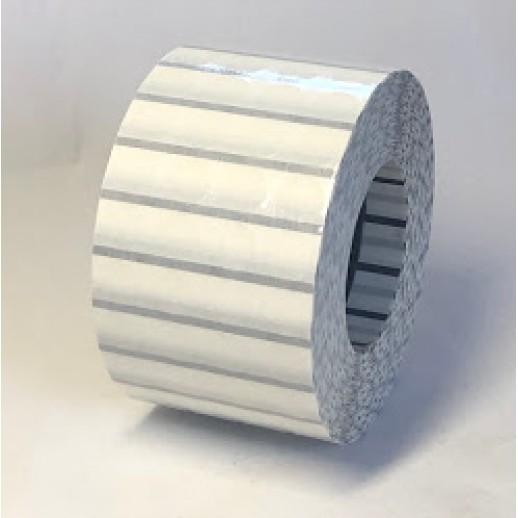Этикетка самоклеящаяся прозрачная круглая 10 мм диаметр (12000 шт) с черной меткой