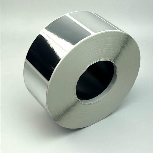 Этикетка самоклеящаяся  40х25 мм полипропилен серебристый 2000 шт