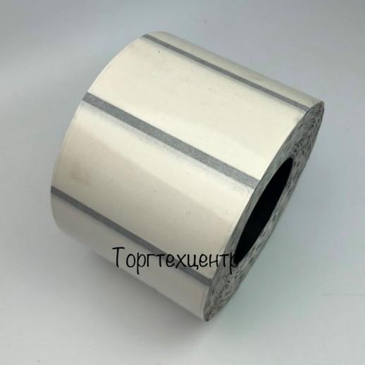 Этикетка самоклеящаяся прозрачная 58х30 мм (1000 шт) с черной меткой