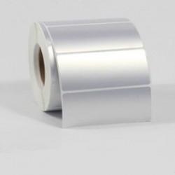Этикетка металлизированная 100х25 мм полиэстер, матовое серебро 1000 шт