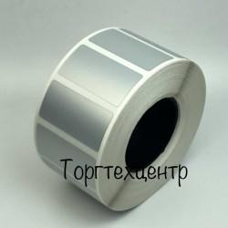 Етикетка металізована 40х25мм поліестер, матове срібло 1000 шт