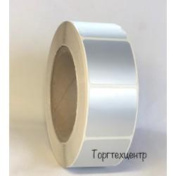 Етикетка металізована 40х40 мм поліестер, матове срібло 1500 шт
