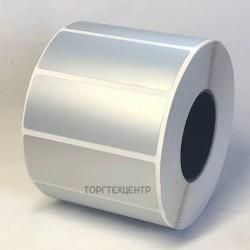 Етикетка металізована 65х25 мм поліестер, матове срібло 1000шт
