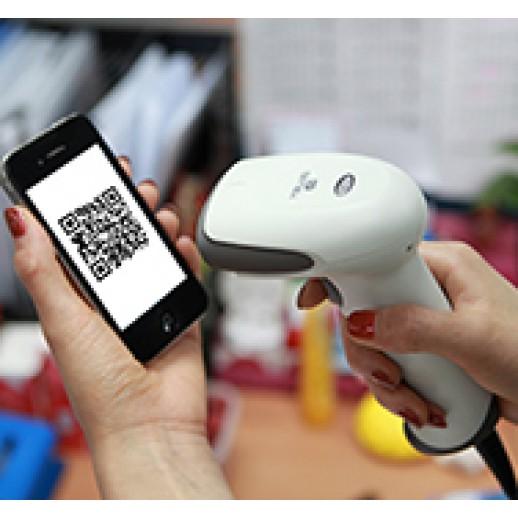 Сканер штрих-кода Youjie YJ4600 (2D сканер) в комплекте с подставкой