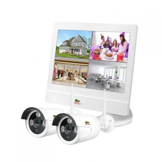 Комплект для видеонаблюдения на улице Kit LCD 2MP 2xIP