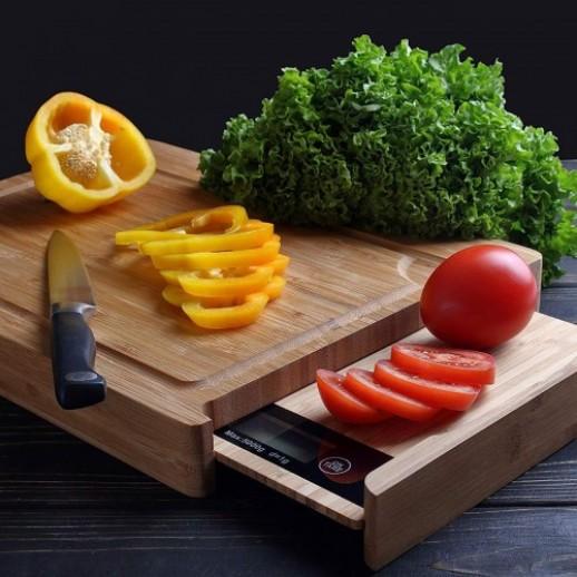 Весы кухонные с разделочной доской L BUTTON (GL-ZB02MT)